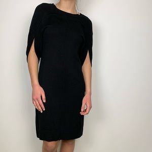 Etcetera Black Relaxed Sleeve Knit Shift Dress